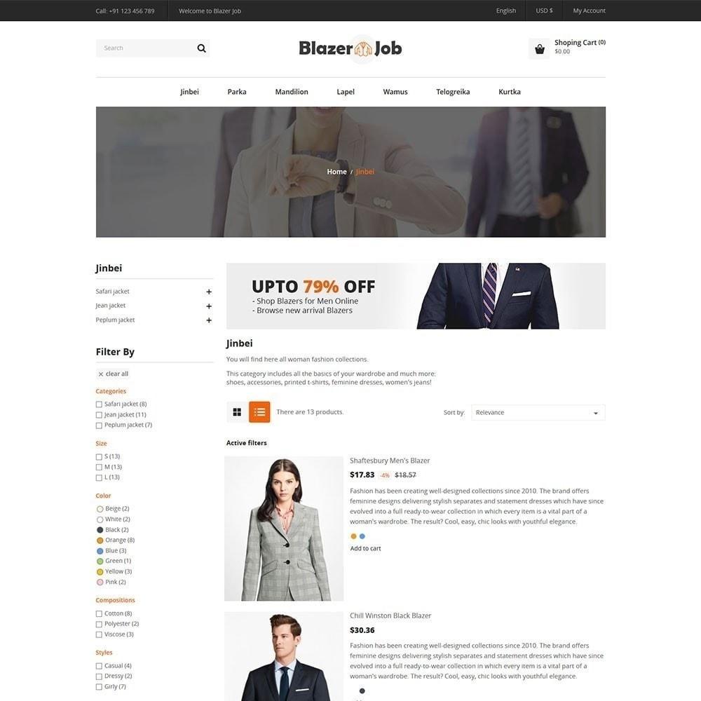 theme - Moda & Obuwie - Blazerjob Fashion Store - 3