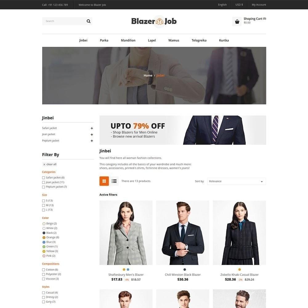 theme - Мода и обувь - Магазин одежды Blazerjob - 4