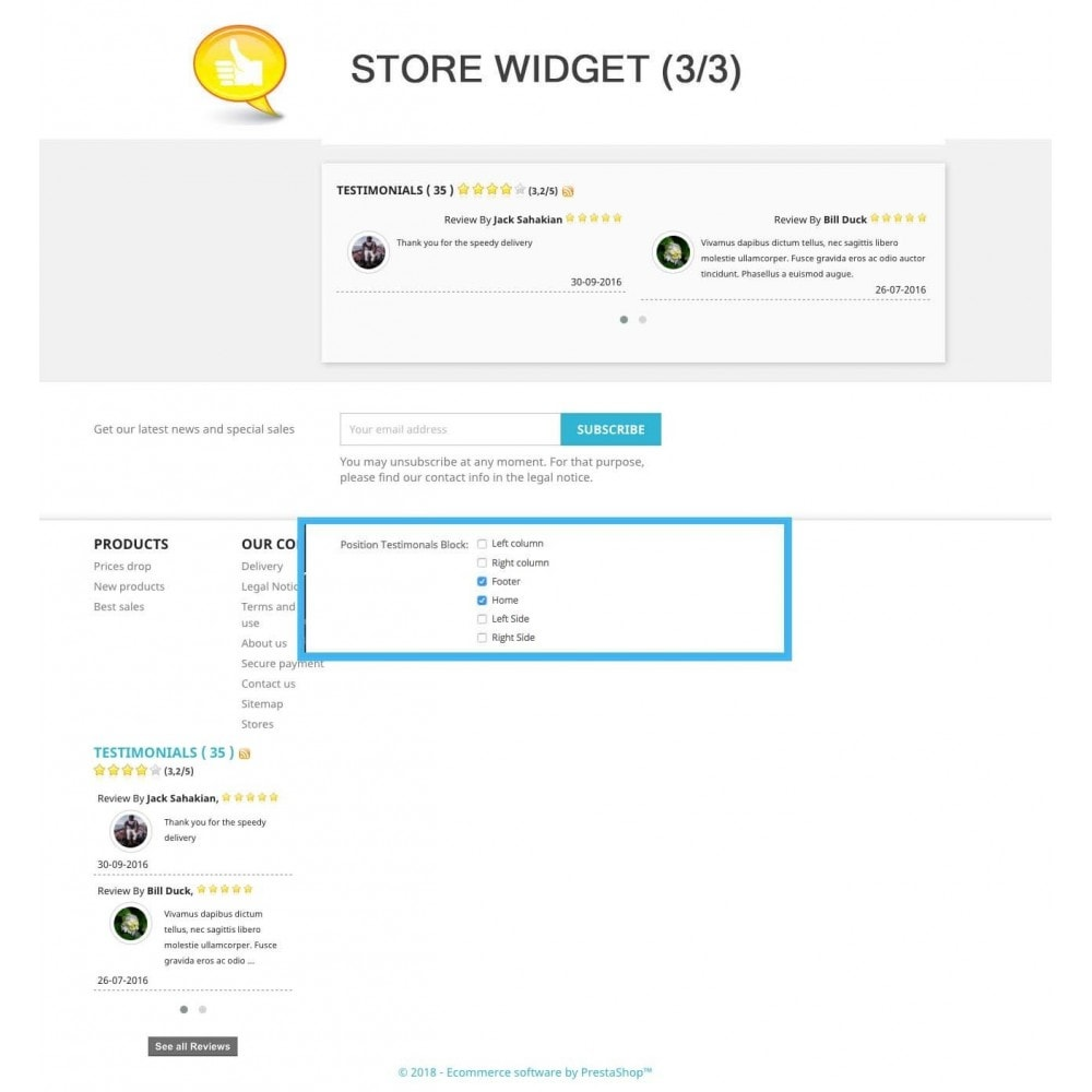 module - Отзывы клиентов - Shop Reviews + Avatars + Reminder + Rich Snippets - 9
