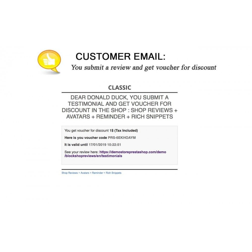 module - Comentarios de clientes - Shop Reviews + Avatars + Reminder + Rich Snippets - 24