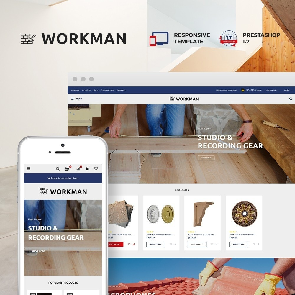 theme - Home & Garden - Workman - Building Materials - 1