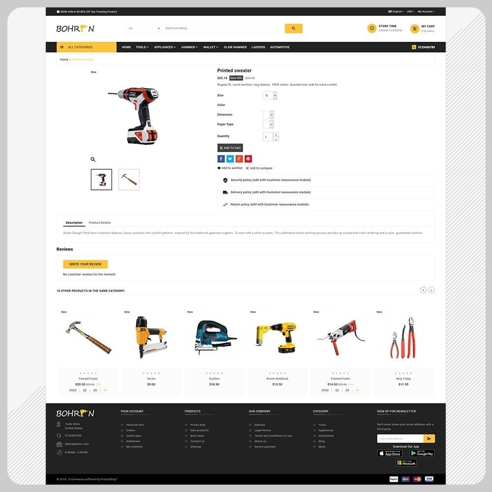 theme - Automotive & Cars - Bohren Outils - Tools Big Store - 5