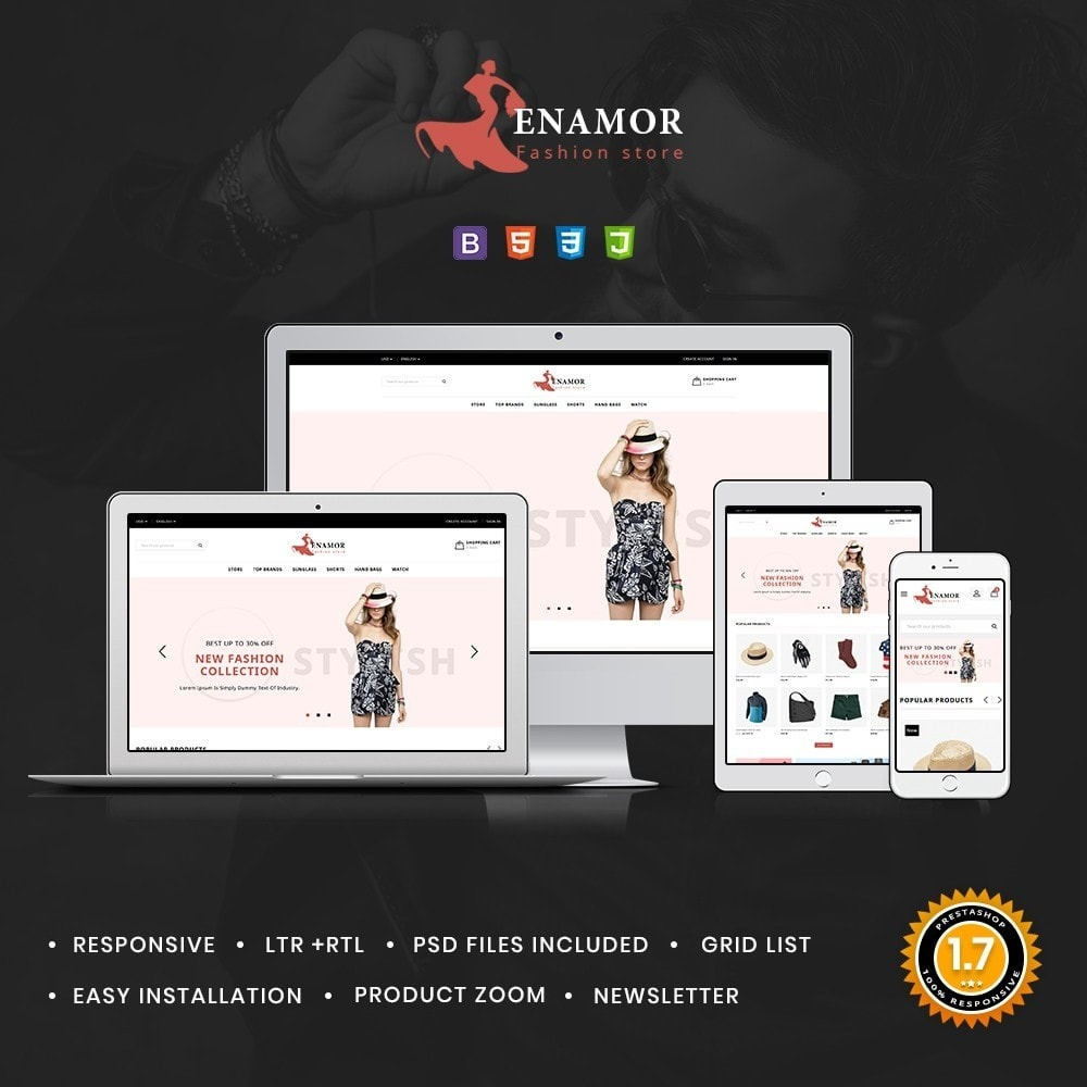 theme - Fashion & Shoes - Enamor Fashion Shop - 1