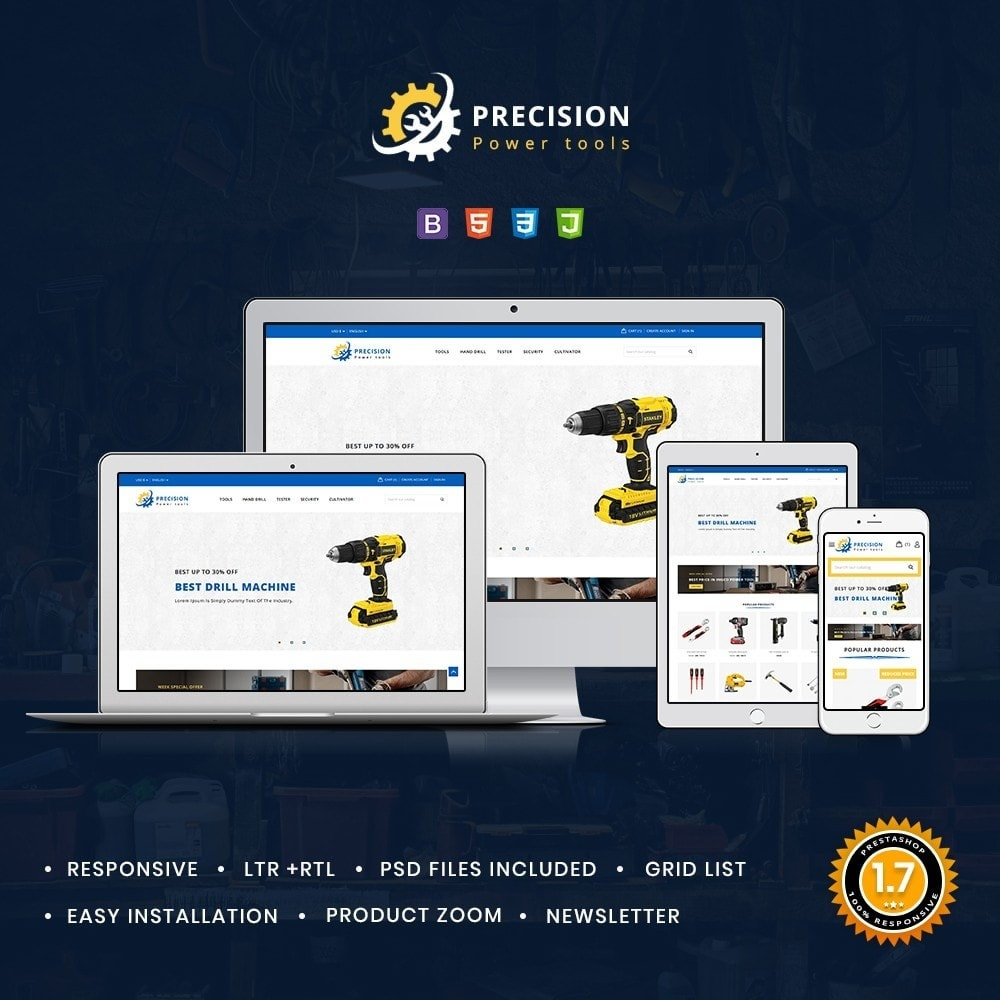 theme - Electronics & Computers - Precision Tools Shop - 1