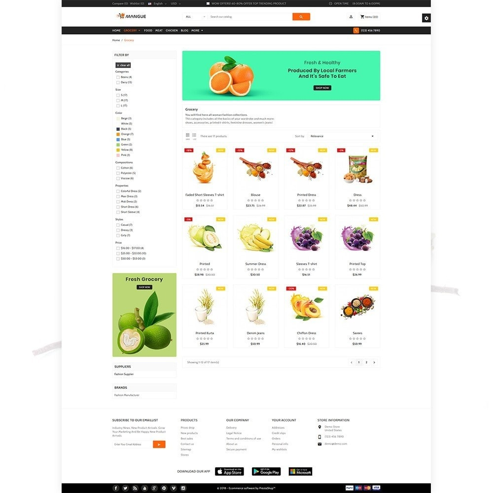 theme - Alimentation & Restauration - Mangue - Instant Grocery Food Shop - 3