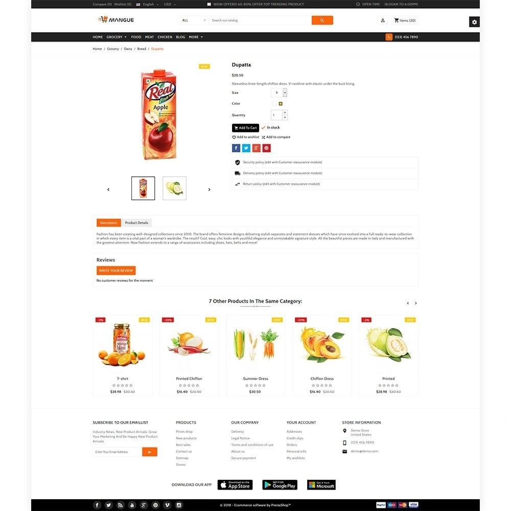 theme - Alimentation & Restauration - Mangue - Instant Grocery Food Shop - 5