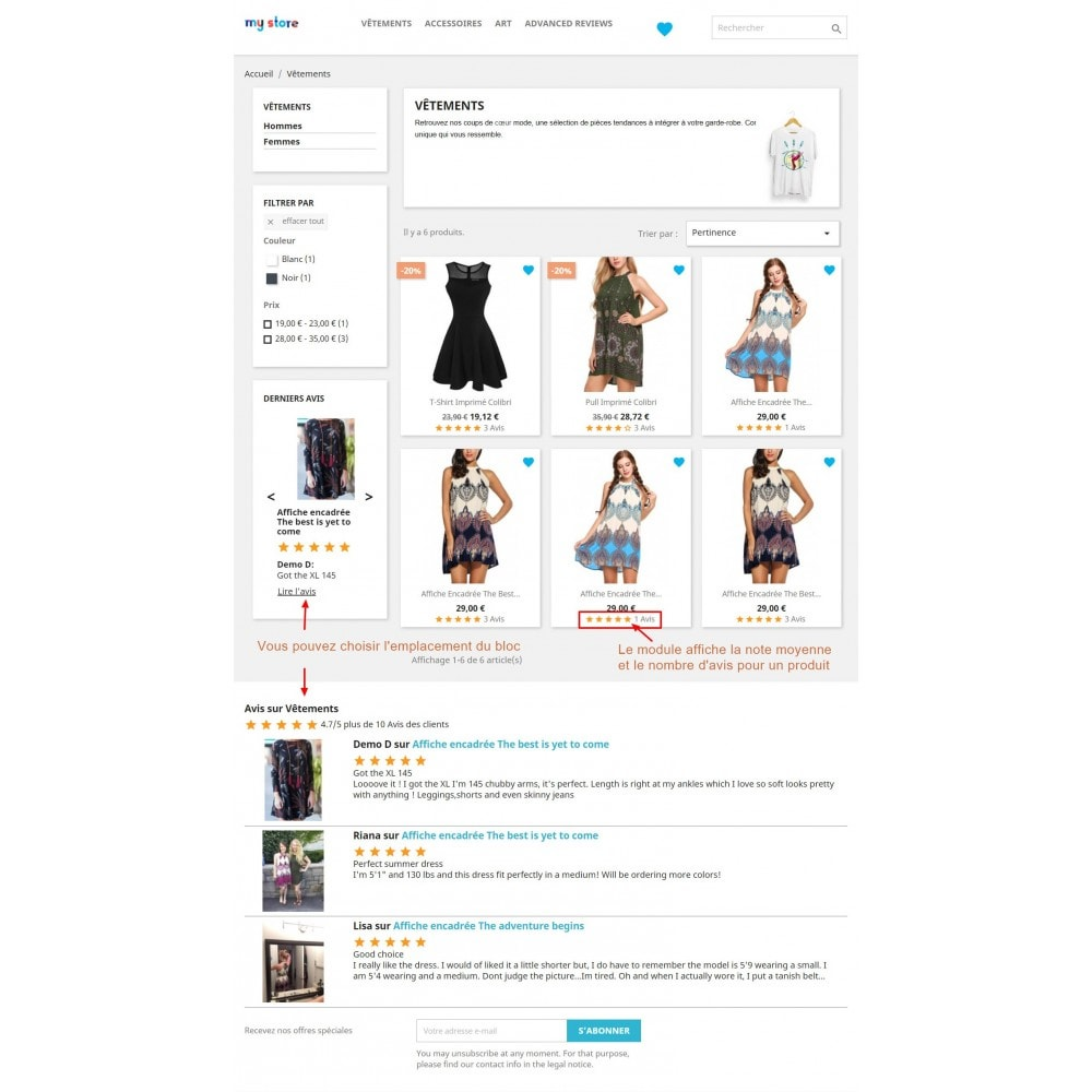 module - Avis clients - Commentaires avancés avec photos + Google rich snippets - 6