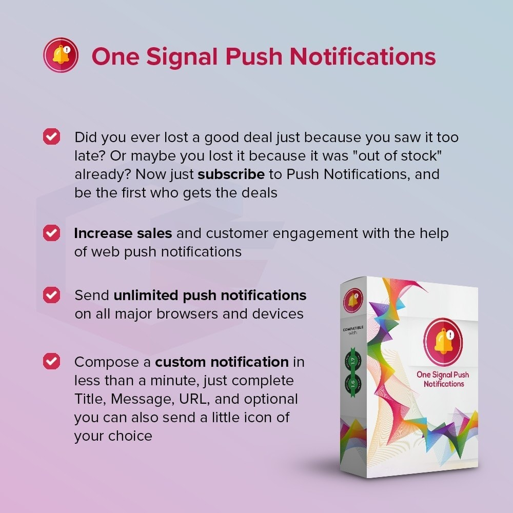 module - Notifications & Automatic Emails - One Signal Push Notifications - 1