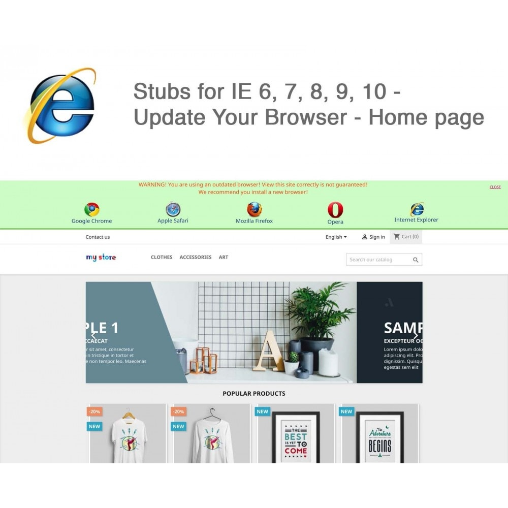 module - Migratie & Backup - Stubs for IE 6,7,8,9,10 - Update Your Browser - 1