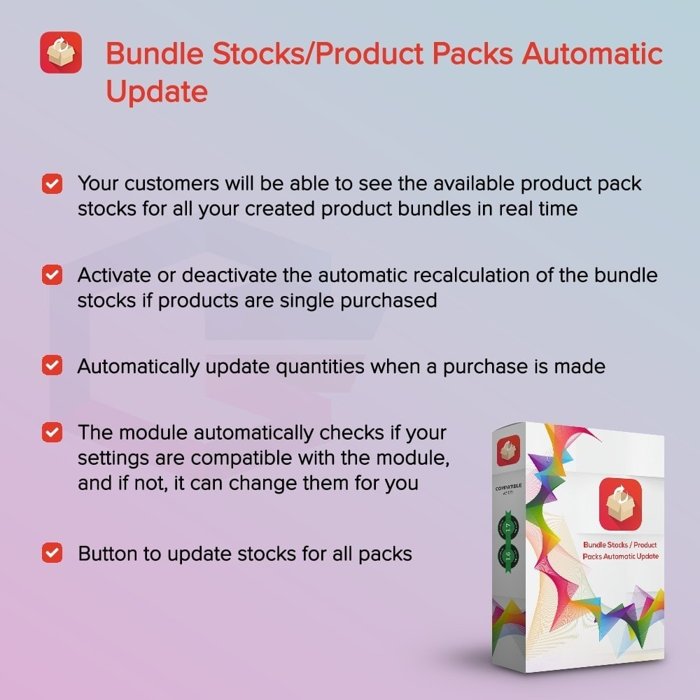 module - Vendas cruzadas & Pacotes de produtos - Bundle Stocks / Product Packs Automatic Update - 1