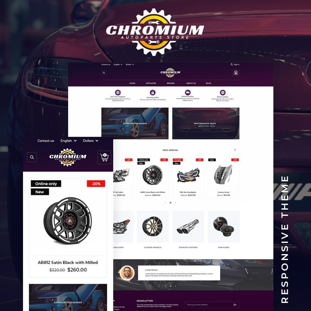 theme - Automotive & Cars - Chromium - 1
