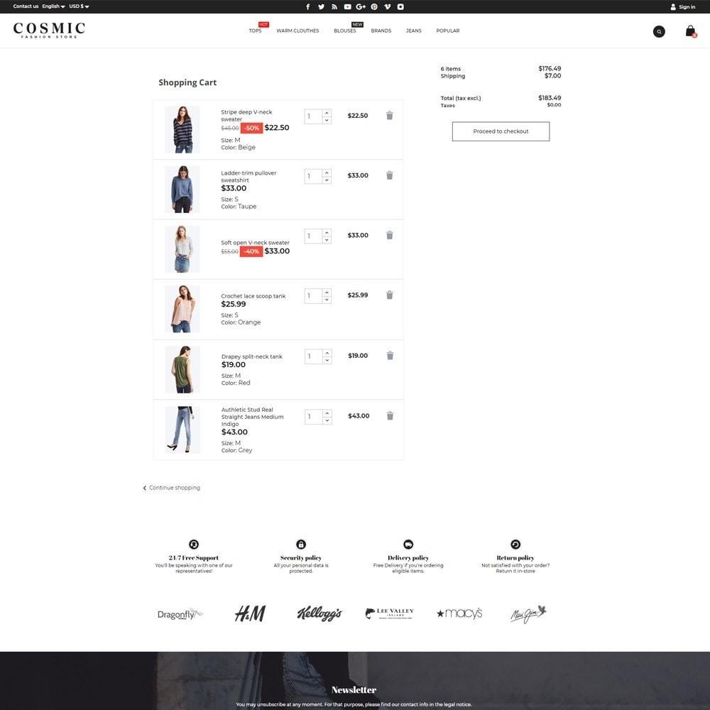 theme - Fashion & Shoes - Cosmic Fashion Store - 7