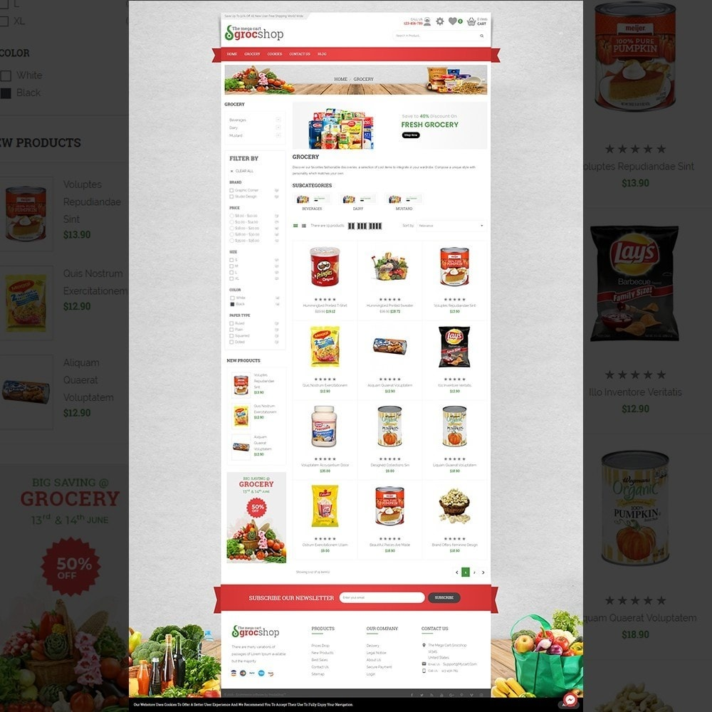 theme - Alimentation & Restauration - grocshop - vegetables & grocery store - 3