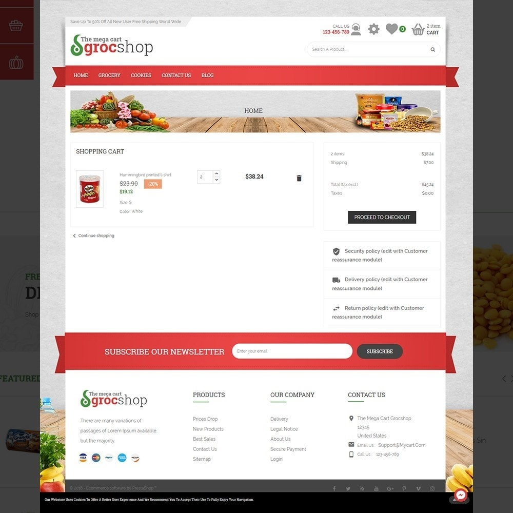 theme - Alimentation & Restauration - grocshop - vegetables & grocery store - 4