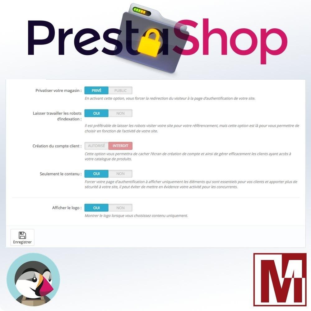 module - Sécurité & Accès - B2B Privatisez votre boutique - 4