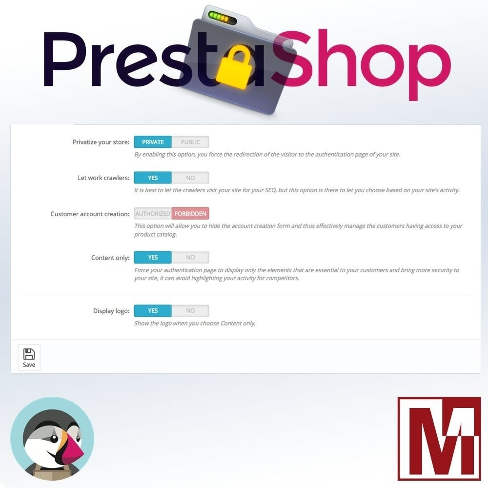 module - Security & Access - B2B Privatize your shop - 4