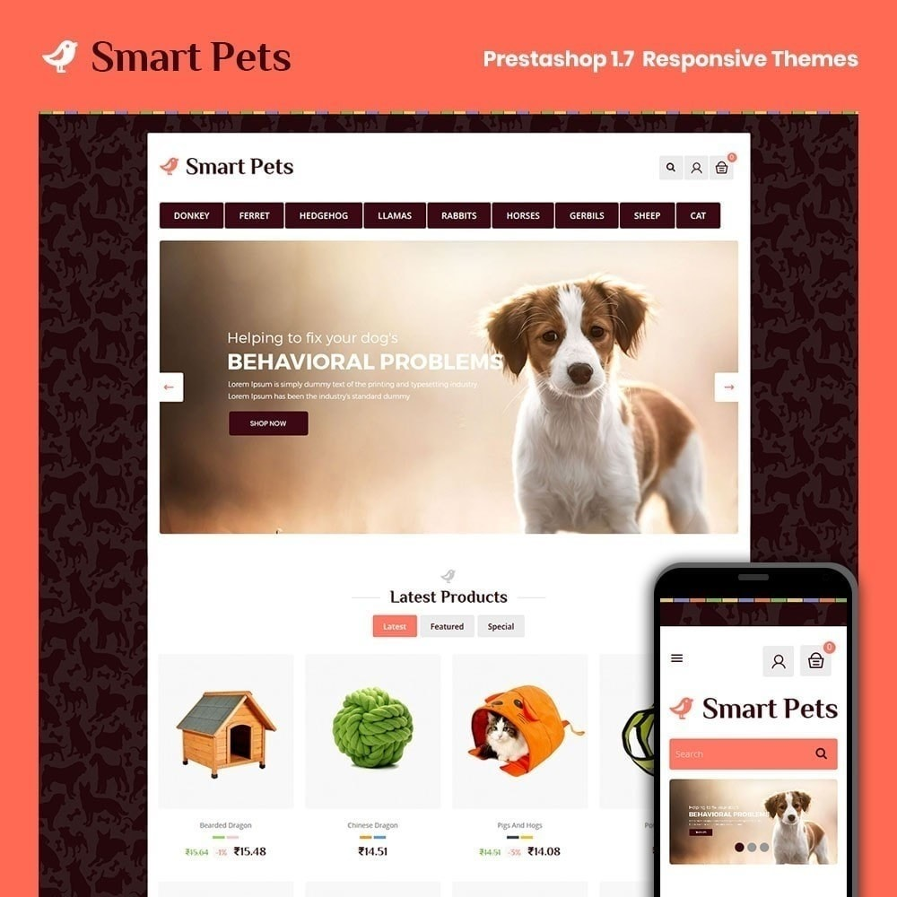 theme - Zwierzęta - Smart Pet - Animal Pet Store - 1