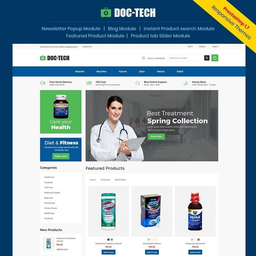 theme - Health & Beauty - Doctech - Medical Store - 1