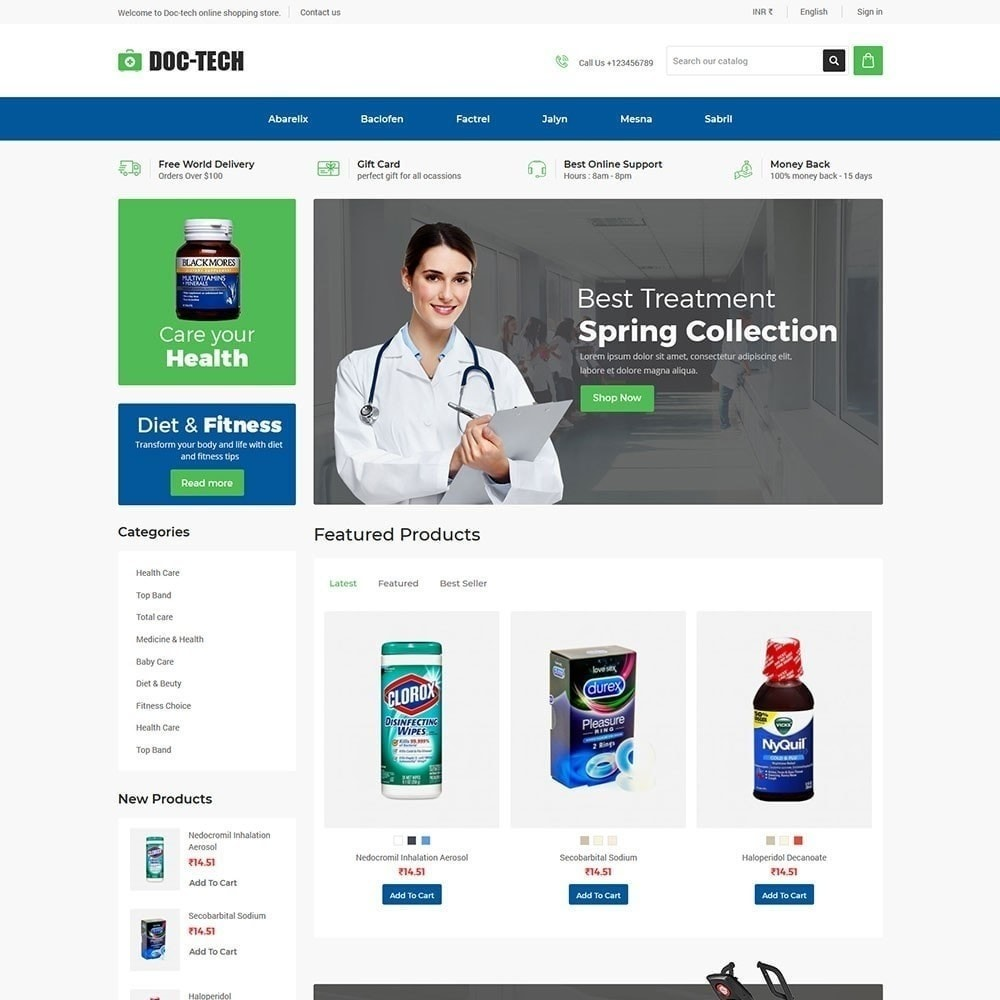 theme - Health & Beauty - Doctech - Medical Store - 2