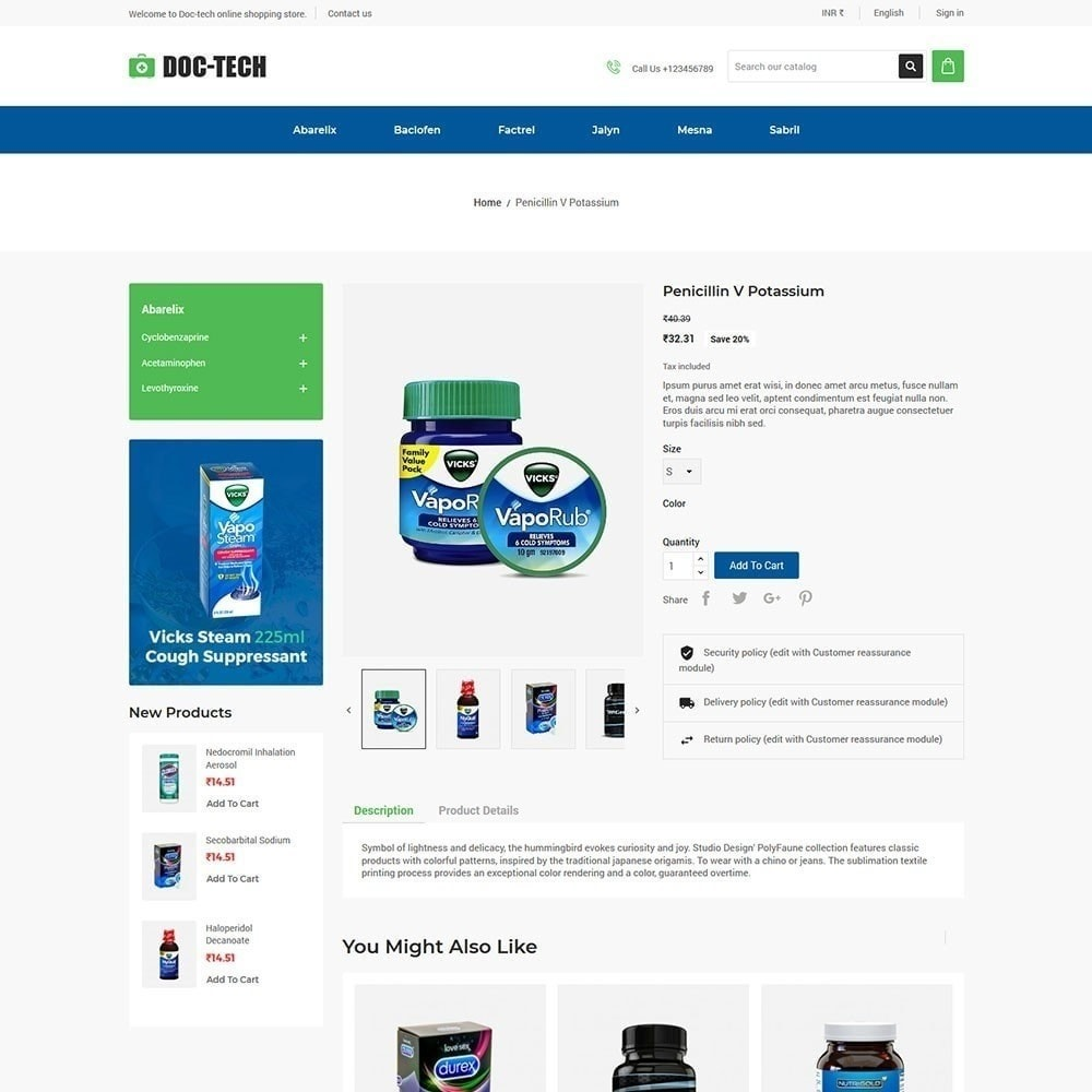 theme - Salute & Bellezza - Doctech - Medical Store - 5