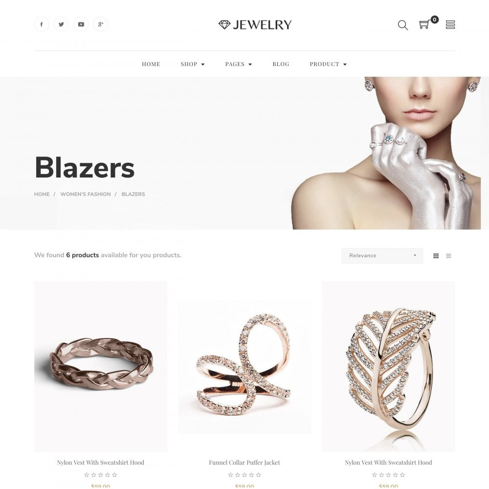 theme - Bijoux & Accessoires - Babi - Jewelry Store eCommerce Bootstrap 4 Template - 3
