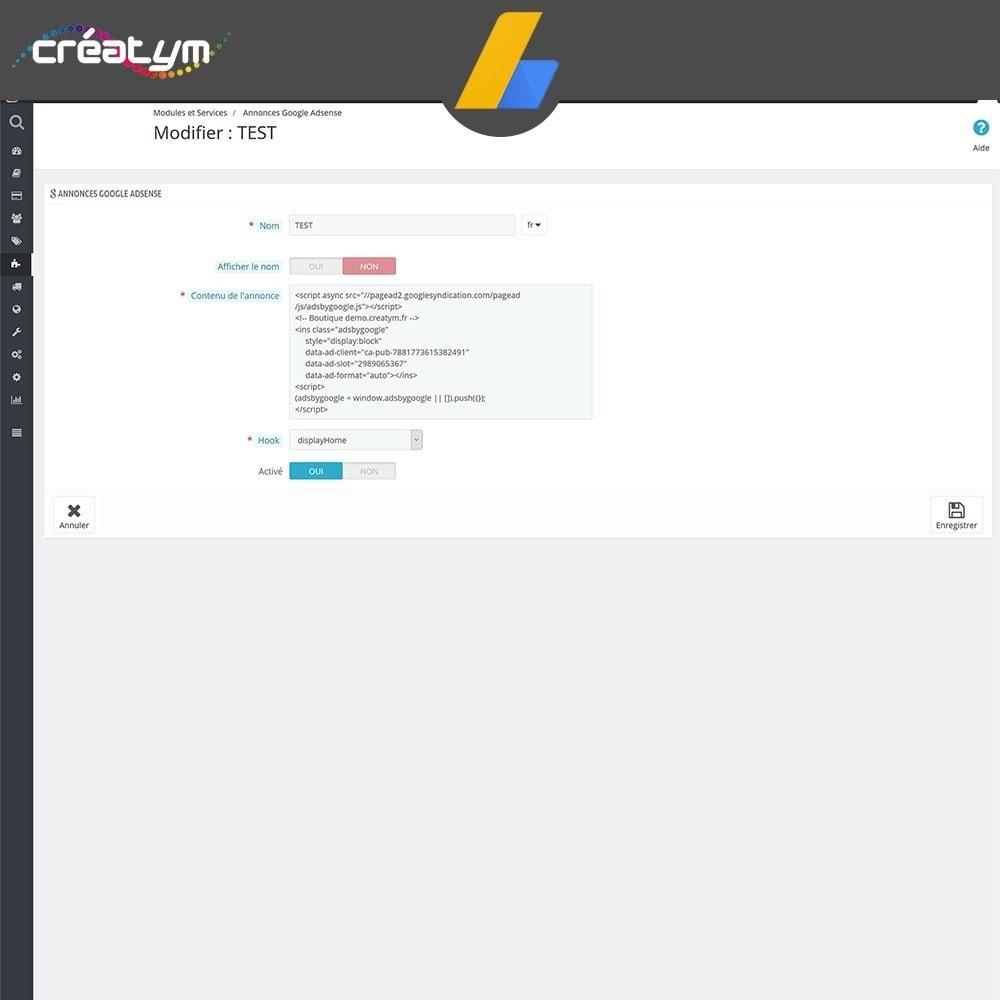 module - Référencement payant (SEA SEM) & Affiliation - Google Adsense - 4