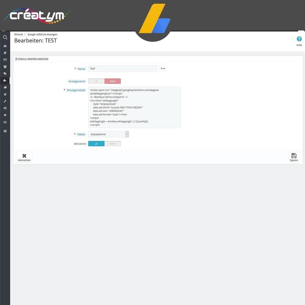 module - SEA SEM (Bezahlte Werbung) & Affiliate Plattformen - Google Adsense - 4