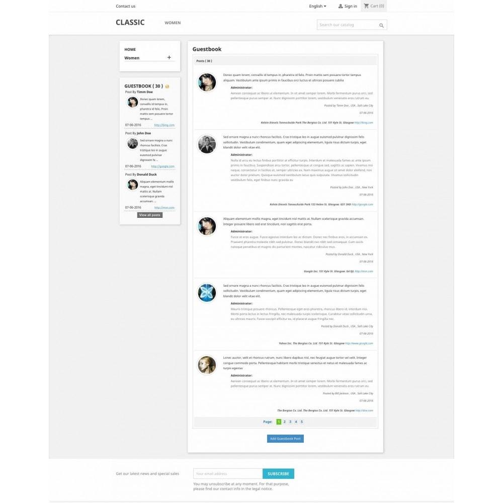 module - Comentarios de clientes - Guestbook - 1