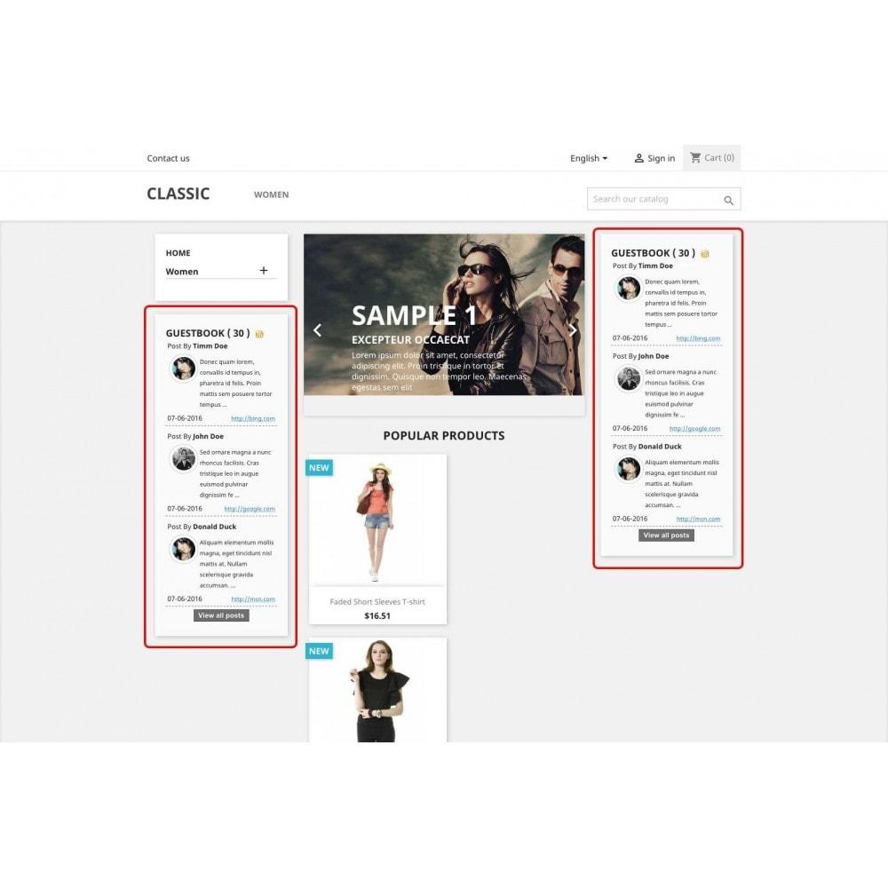 module - Comentarios de clientes - Guestbook - 2