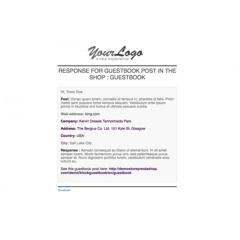 module - Recensioni clienti - Guestbook - 5