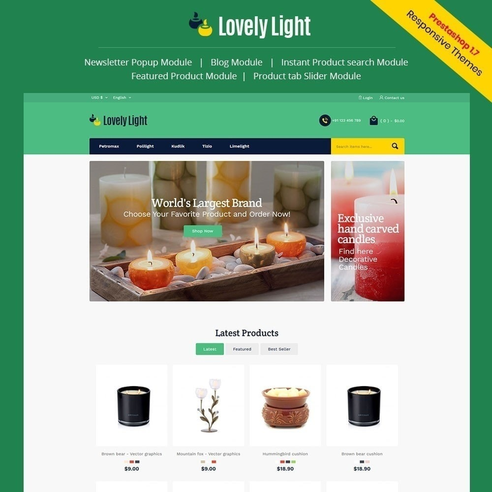 theme - Дом и сад - Lovely Light Store - 1