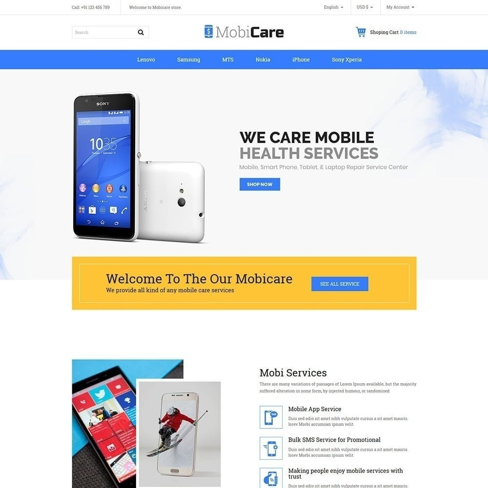 theme - Electronics & Computers - Mobicare - Electronics Store - 2
