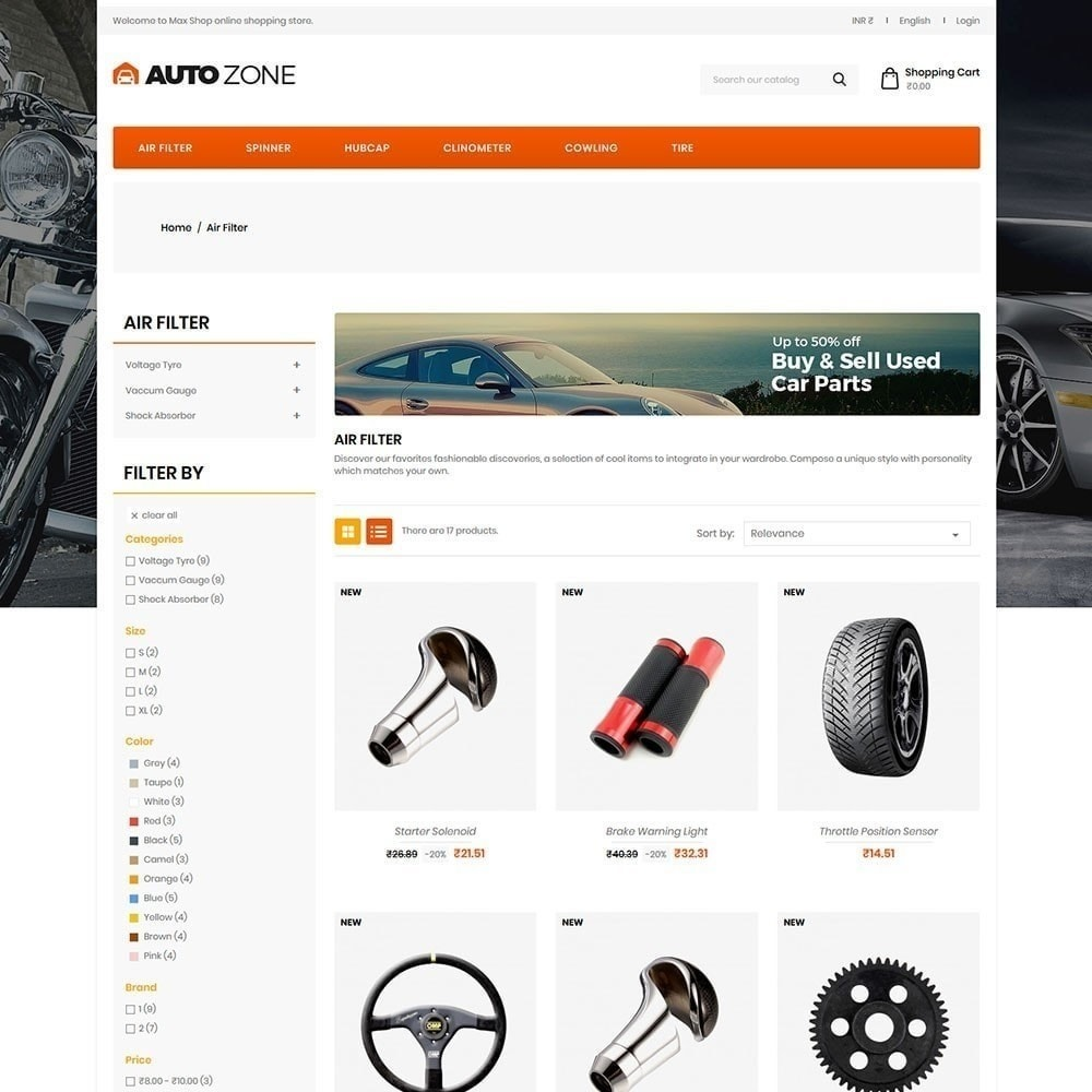 theme - Samochody - Autozone - Auto Store - 3