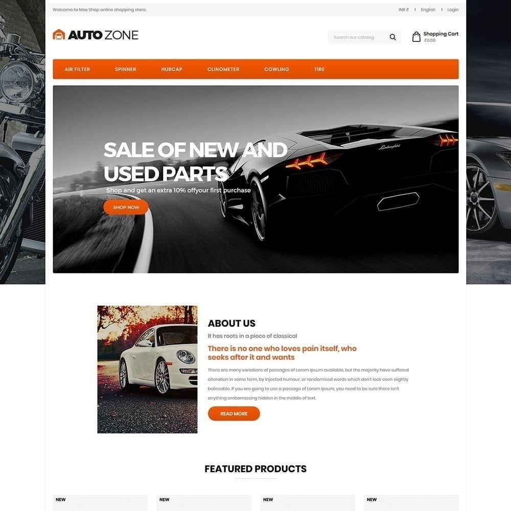 theme - Carros & Motos - Autozone - Auto Store - 2