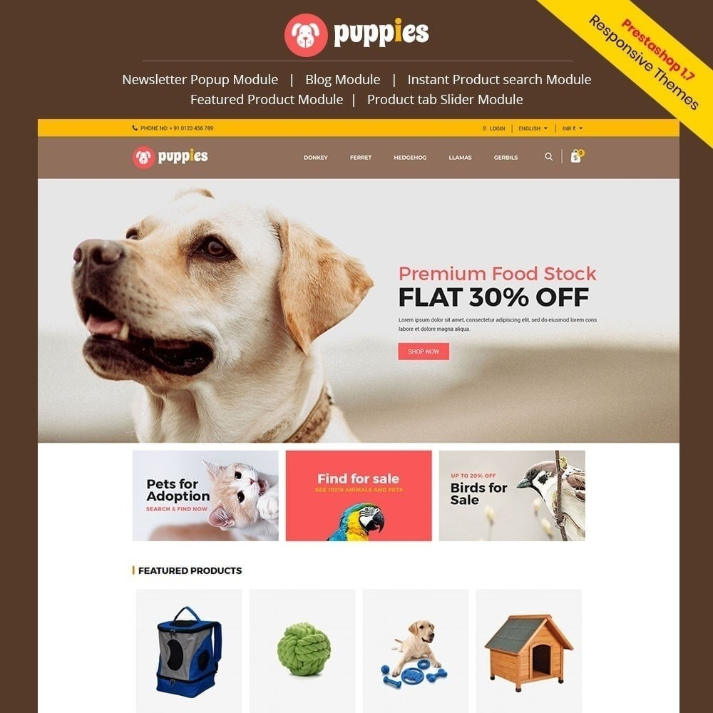 theme - Animaux - Chiots - Animal Store - 1