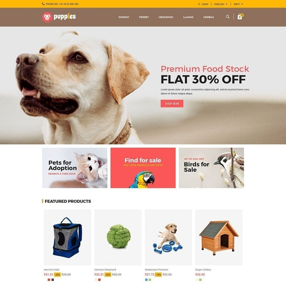theme - Animaux - Chiots - Animal Store - 2