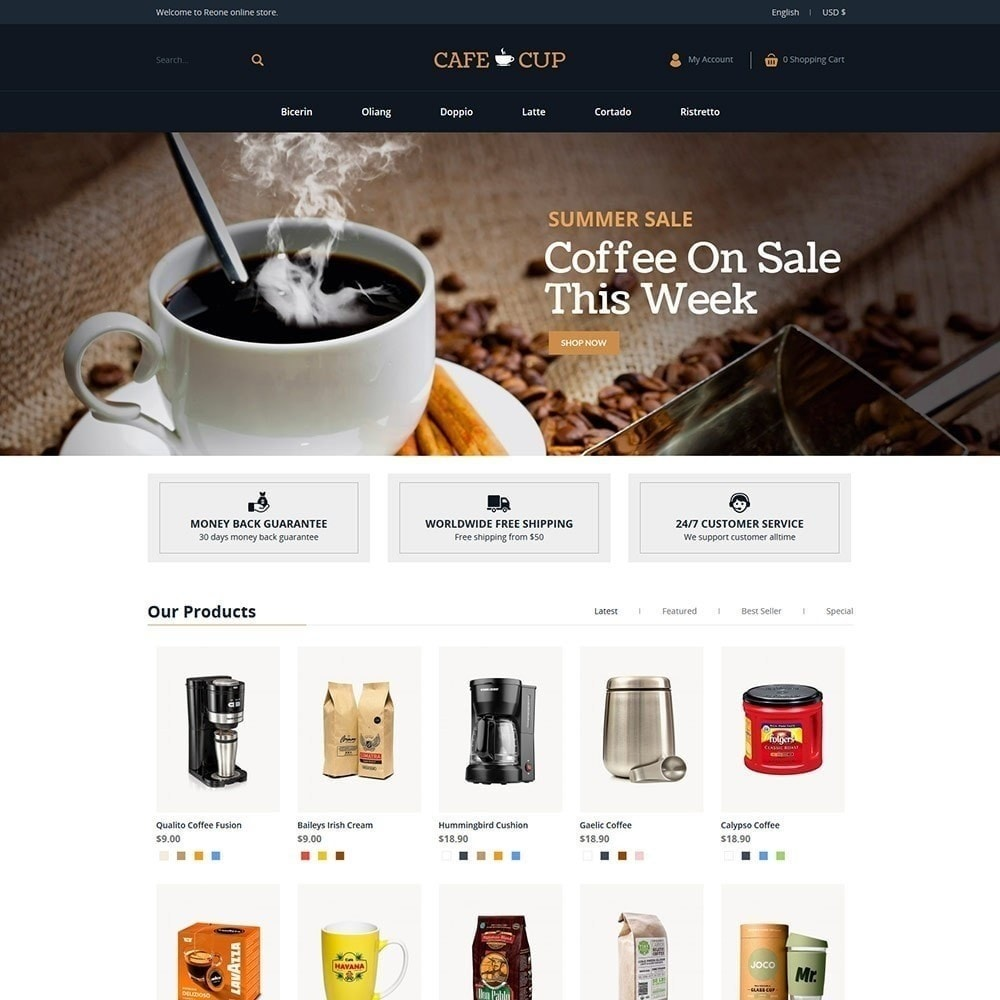 theme - Lebensmittel & Restaurants - Kaffeetasse - Coffee Store - 5
