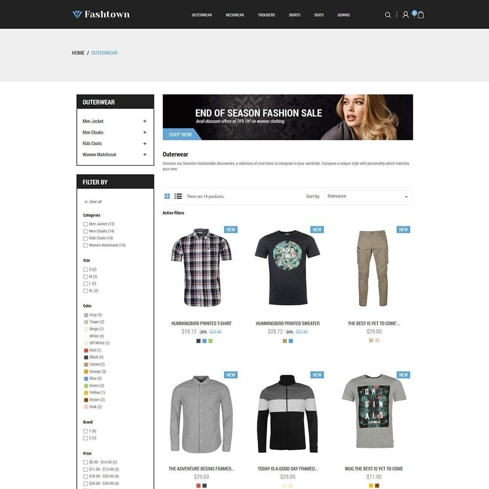 theme - Moda y Calzado - Fashtown - Tienda de moda - 4