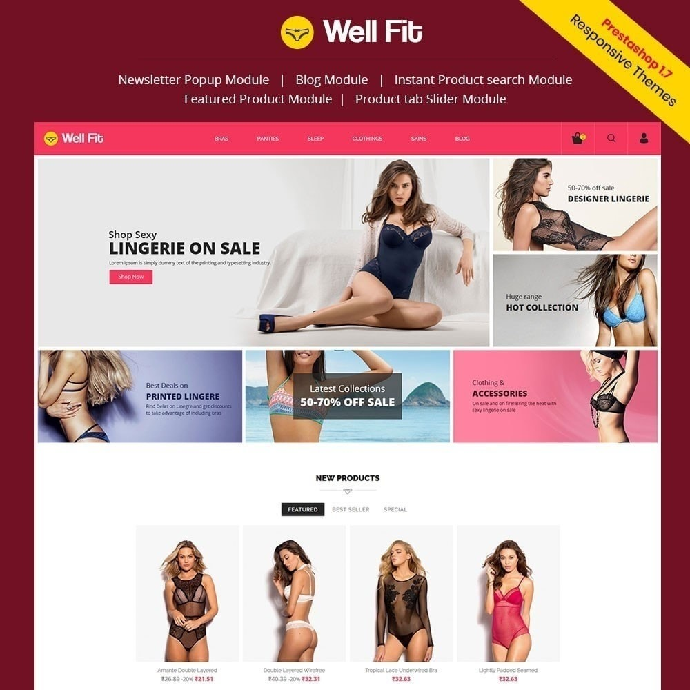 theme - Mode & Chaussures - Wellfit - Magasin de lingerie - 1