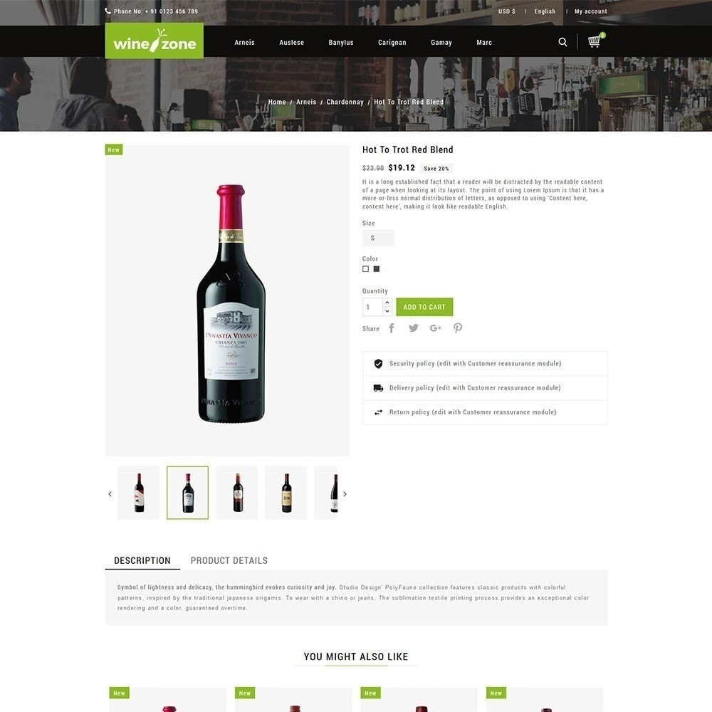 theme - Food & Restaurant - Winezone - Wine Store - 5