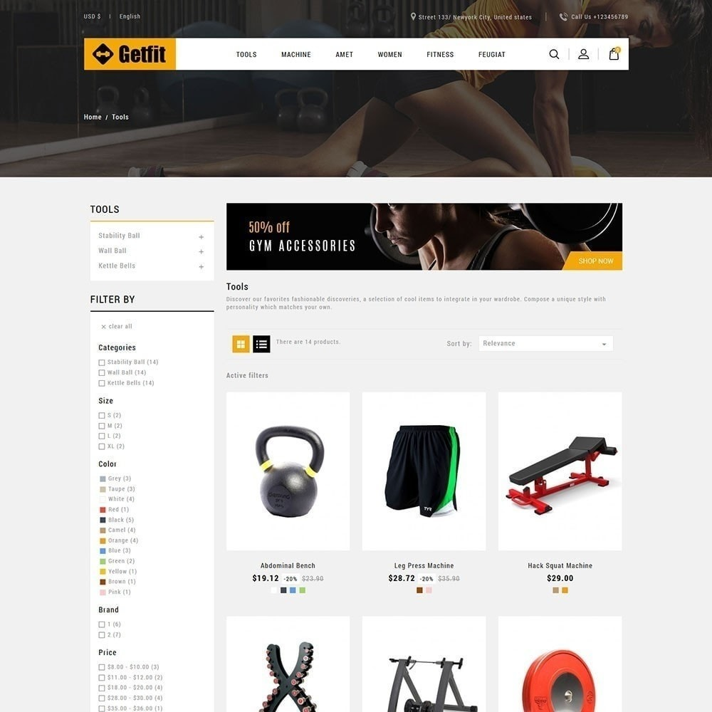 theme - Mode & Chaussures - Get Fit Gym Store - 2