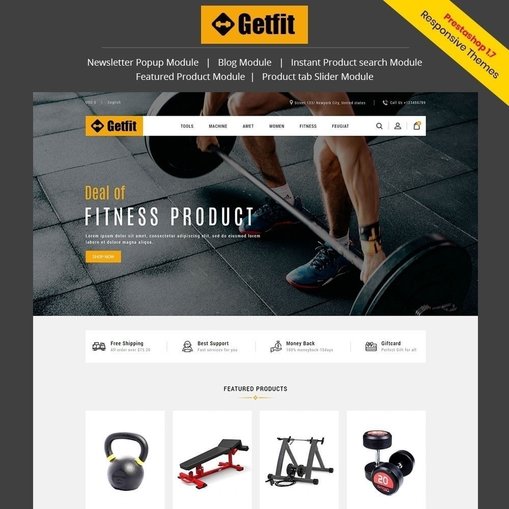 theme - Moda & Calzature - Get Fit Gym Store - 1