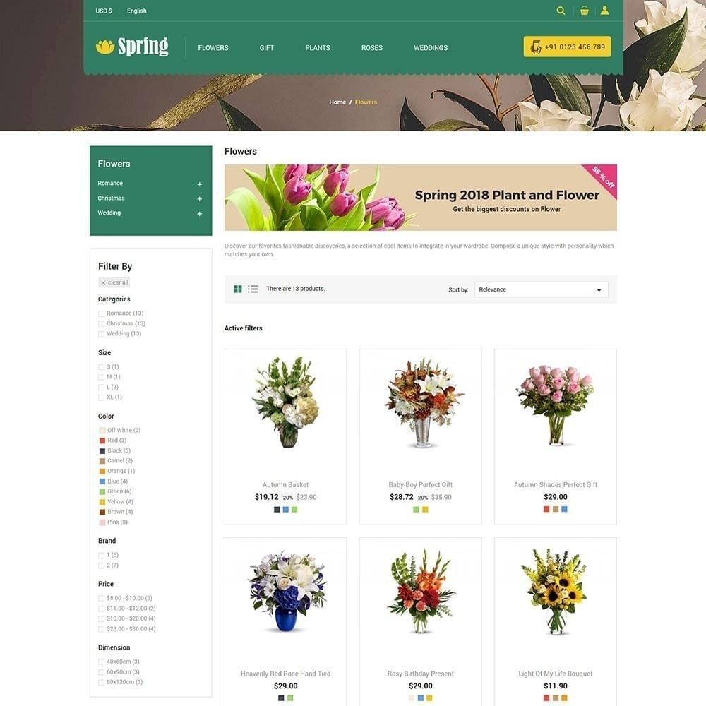 theme - Alimentation & Restauration - Magasin de fleurs de printemps - 4