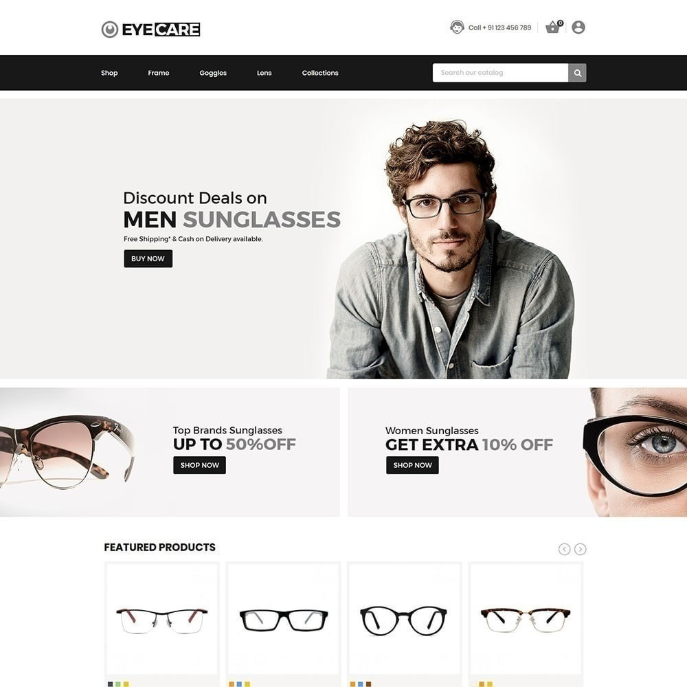 theme - Mode & Chaussures - Eyecare - Magasin de mode - 3