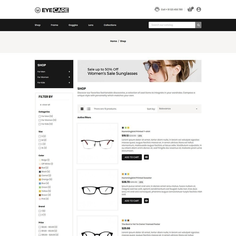 theme - Moda y Calzado - Eyecare - Tienda de moda - 3