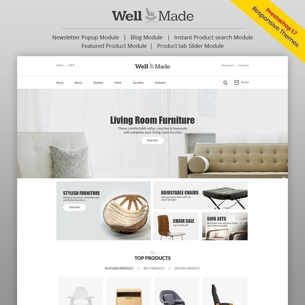 theme - Fashion & Shoes - Wellmade Light Furniture Store - 1