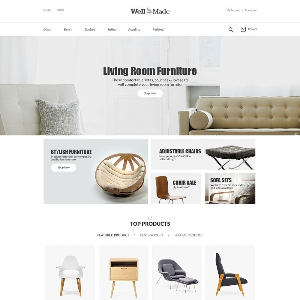 theme - Fashion & Shoes - Wellmade Light Furniture Store - 2