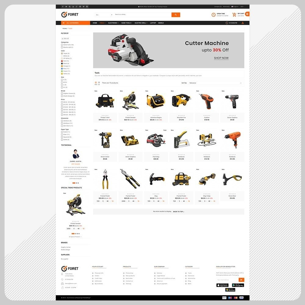 theme - Automotive & Cars - Foret Outils – Tools Big Shop - 3