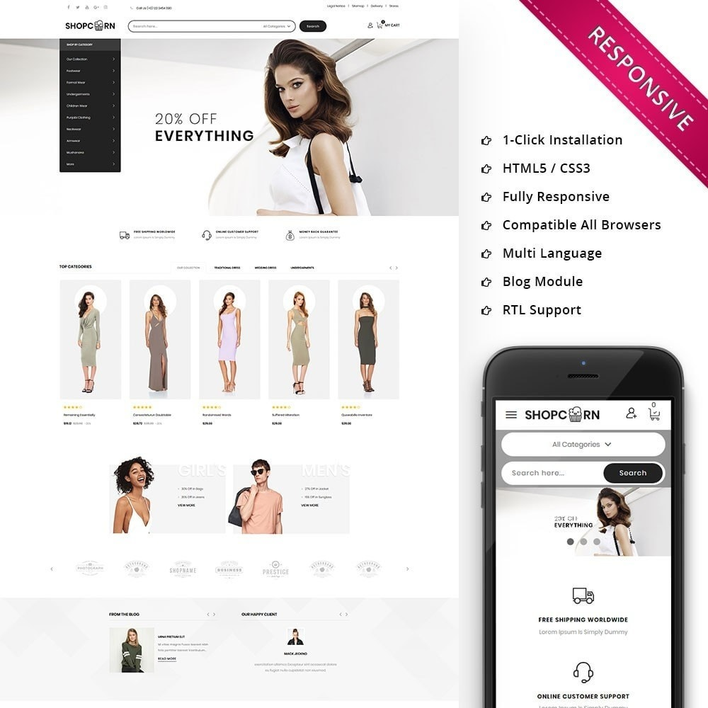 theme - Fashion & Shoes - Shopcorn - The fashion Store - 1