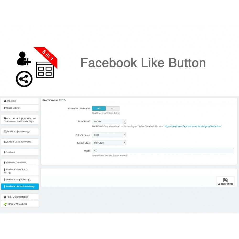 module - Share Buttons & Comments - Social Connect, Like, Share, Widget, Comments 5 in 1 - 28